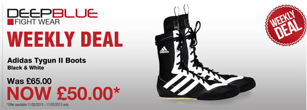 pre order new cheap high quality ADIDAS Tygun II Boxing Boots NOW £50 UNTIL Sunday 17th March ...
