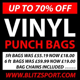 Massive punch bag sale at Blitz Sport