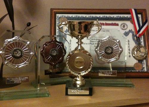 Dan's trophies