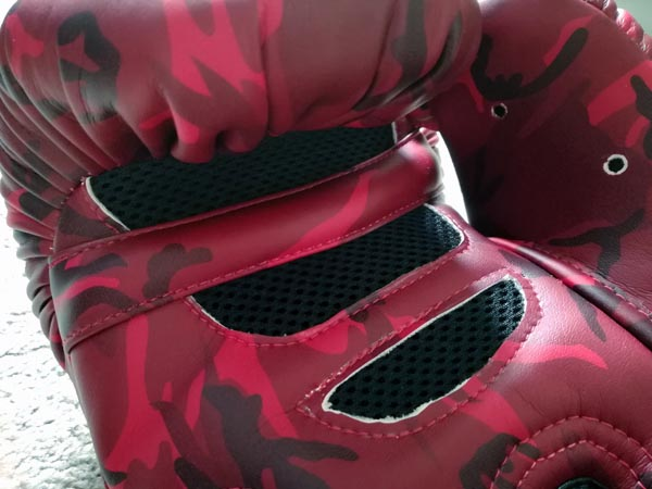 danger boxing gloves mesh