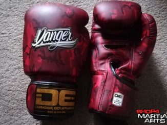 danger red army boxing gloves