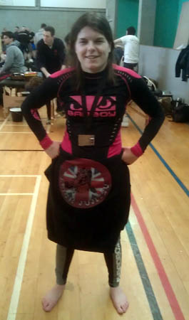 After winning bronze medal at Grapple Nation 4 in Openweight Ladies Novice No-Gi
