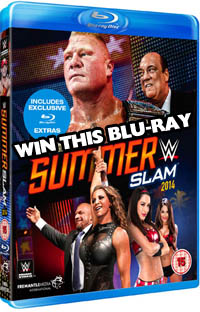 Win WWE SummerSlam 2014 on Bluray